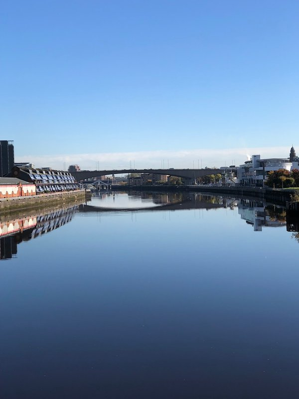 Looking east along the Clyde