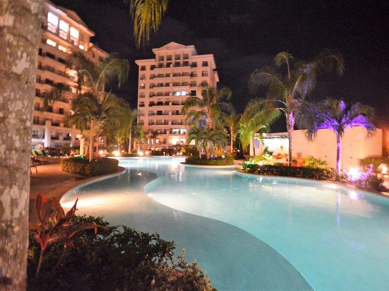 Night View of Condo Complex