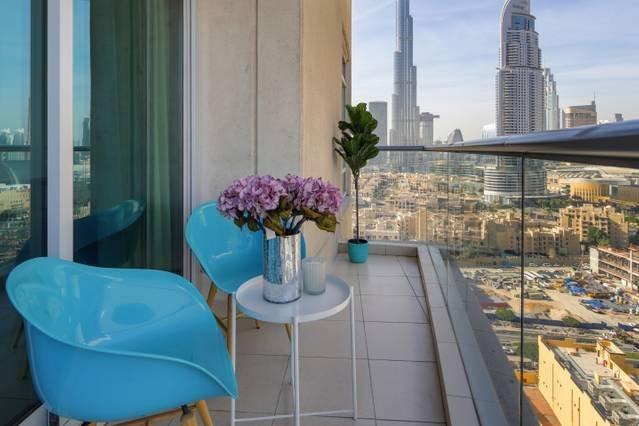 Balcón con vistas Burj Khalifa!