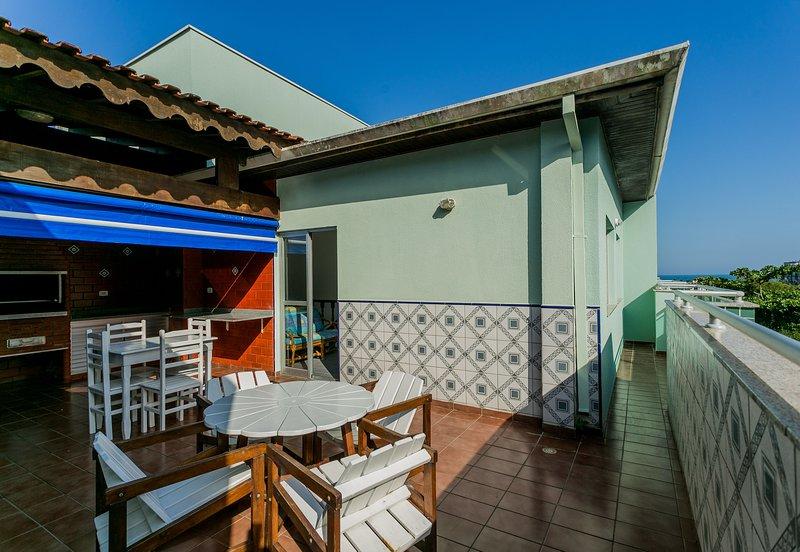 Cobertura duplex gourmet, ande até a praia, aluguéis de temporada em Ubatuba