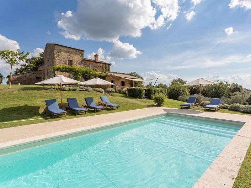 Crete Senesi country house, swimming pool, A/C, quiet located, Wi-Fi, garden, casa vacanza a Asciano