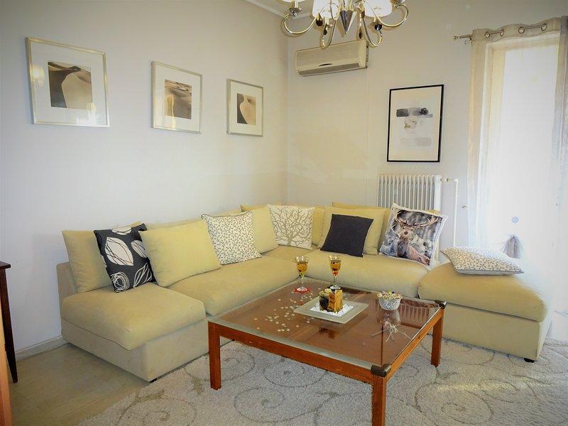 Urban Cosy flat, 5' Tram/Metro, 2km from Acropolis, holiday rental in Agios Dimitrios