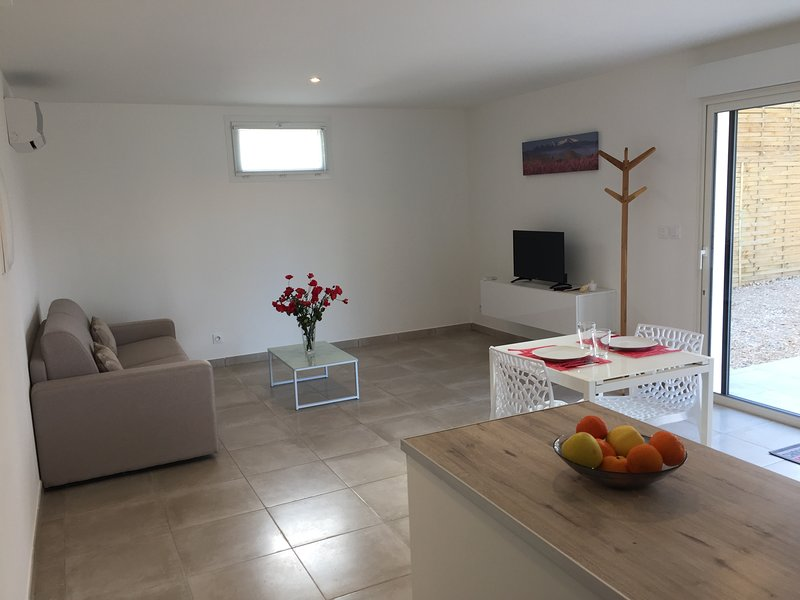 Beautiful apt with pool access, holiday rental in Villelongue-dels-Monts