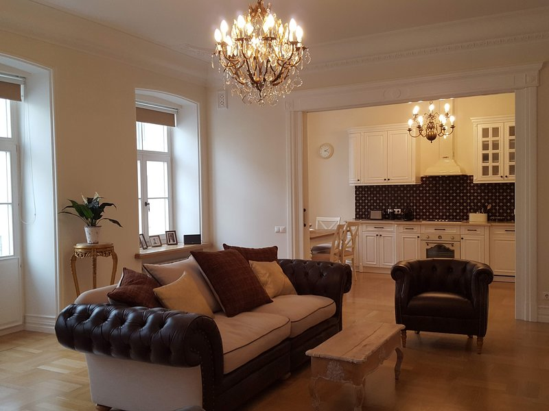 Moika 82, 3 bedroom, 2 bathroom, 450 metres St. Isaac's Cathedral, holiday rental in St. Petersburg