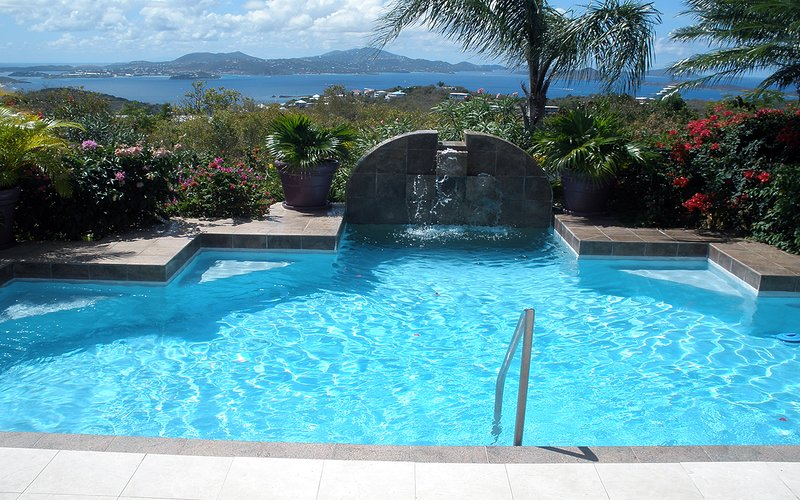 Gated-Community Home with Private pool and views!, vacation rental in Cruz Bay
