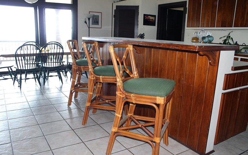 Breakfast bar in kitchen on main floor