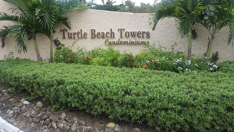 Entrance to Turtle Beach Towers