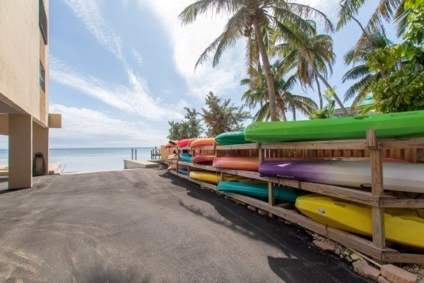 Zone de stockage de kayak