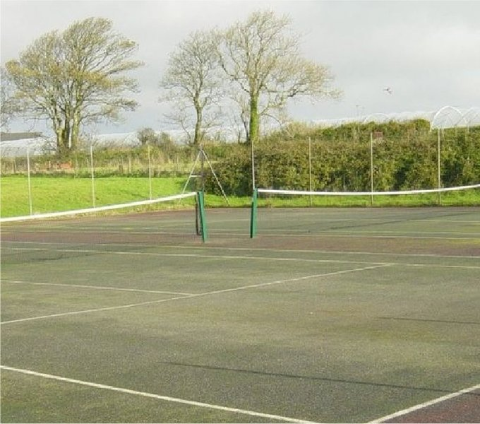 This is the tennis courts on the grounds.