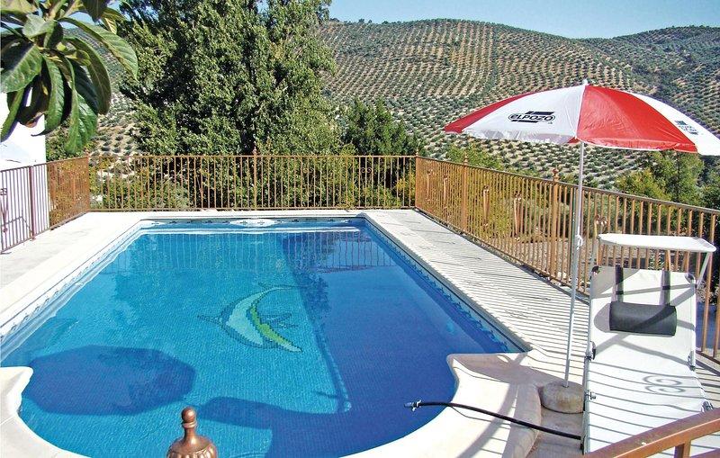 Stunning home in Iznájar with 1 Bedrooms (EAC009), holiday rental in Algarinejo