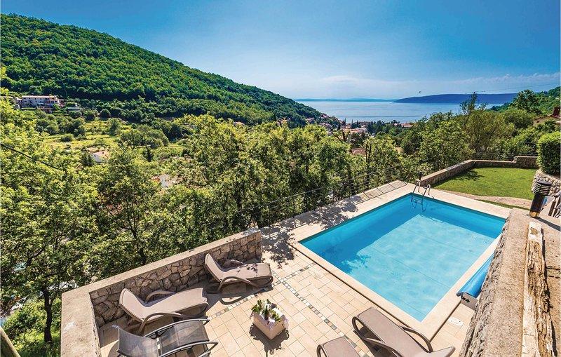 Amazing home in Moscenicka Draga with WiFi and 1 Bedrooms (CKO608), alquiler de vacaciones en Moscenicka Draga