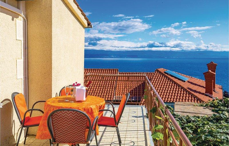 Beautiful home in Moscenicka Draga with WiFi and 3 Bedrooms (CKO826), alquiler de vacaciones en Moscenicka Draga