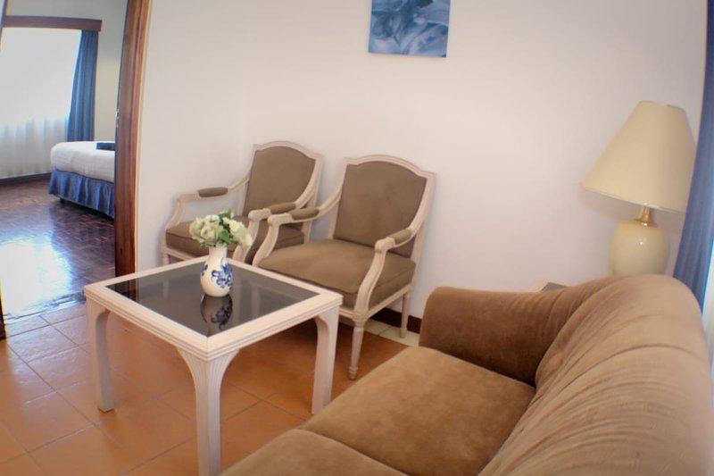 Área de estar separada para quartos Premium e Executive