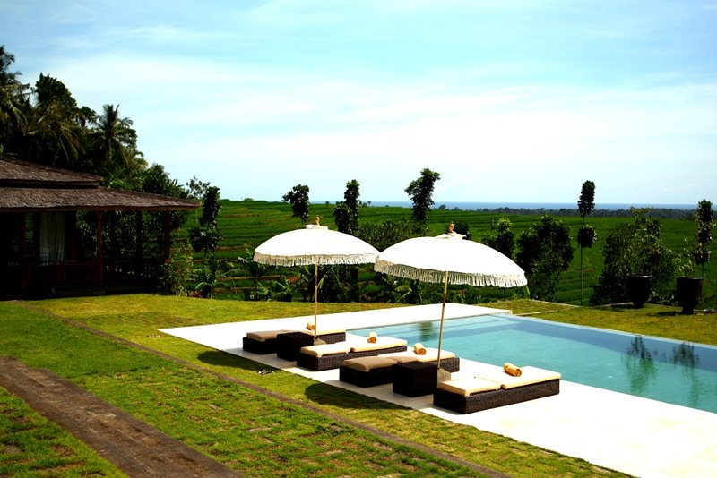 1 BR Private HINDU villa with panoramic rice field scenery, holiday rental in Tabanan