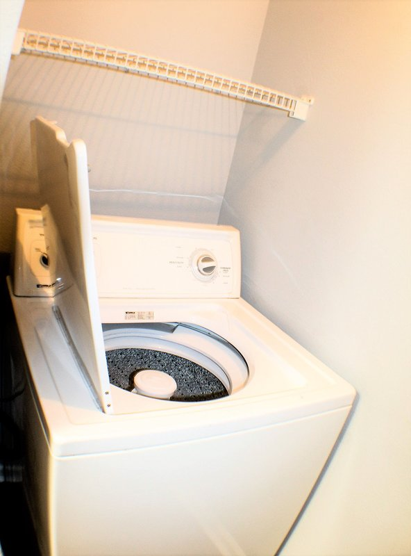 Washer and dryer are in unit