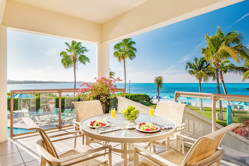 180 degree views from the White House Villa - located directly on Grace Bay beach