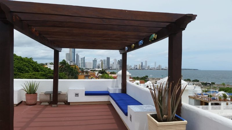 Amazing view from apartment inside Old city, vacation rental in Cartagena