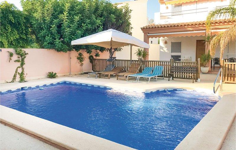 Amazing home in La Azohia with WiFi and 6 Bedrooms (ECC536), holiday rental in La Azohia