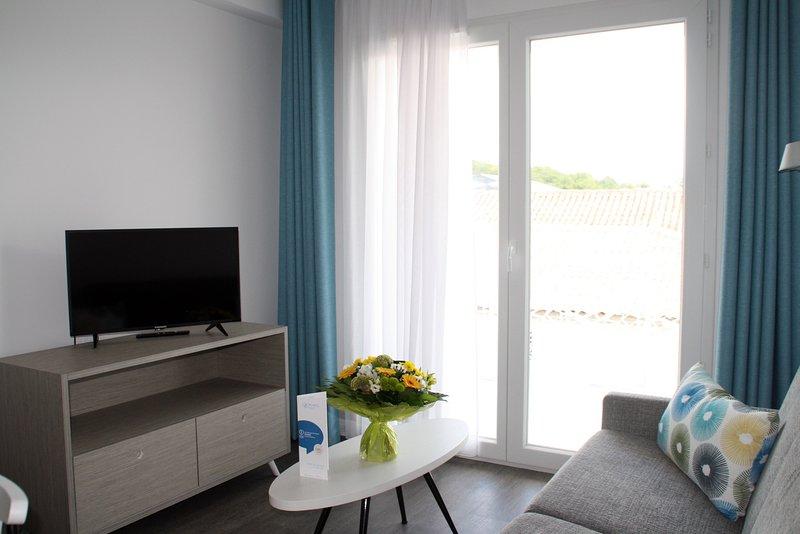 Venha e fique no nosso apartamento moderno e confortável em Jonzac.