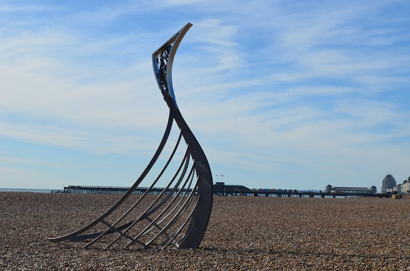Hastings Beach, East Sussex, a 15 minute drive from the property