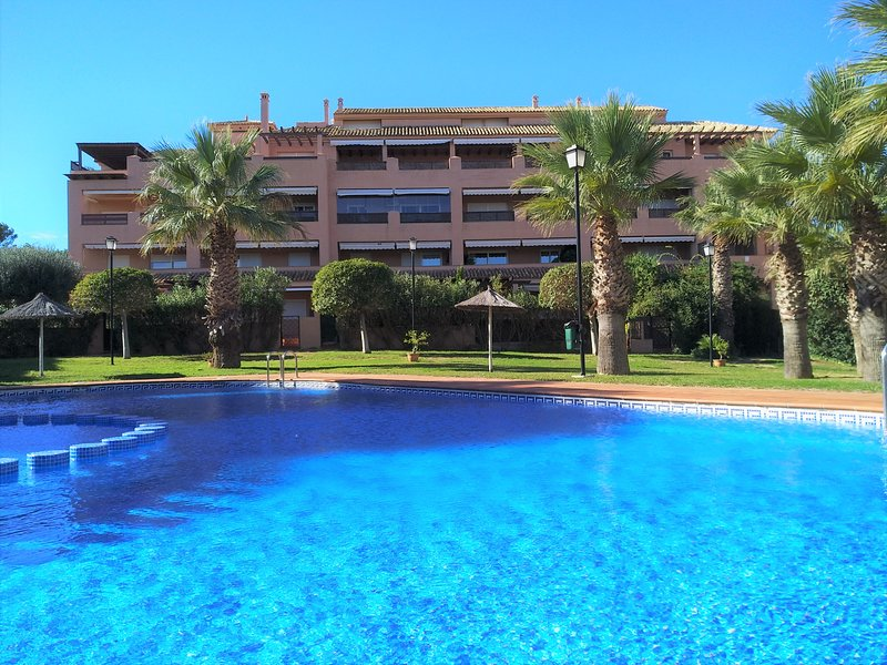 Urbanization Cabo Palos with pool near the beach and center