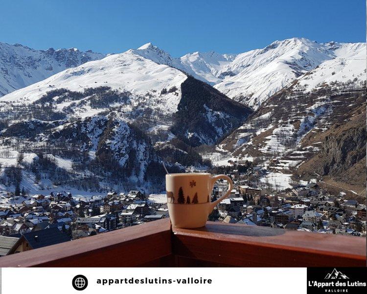 Appartement équipée 2 pièces 4 pers proche piste de ski avec vue exceptionnelle, location de vacances à Valloire