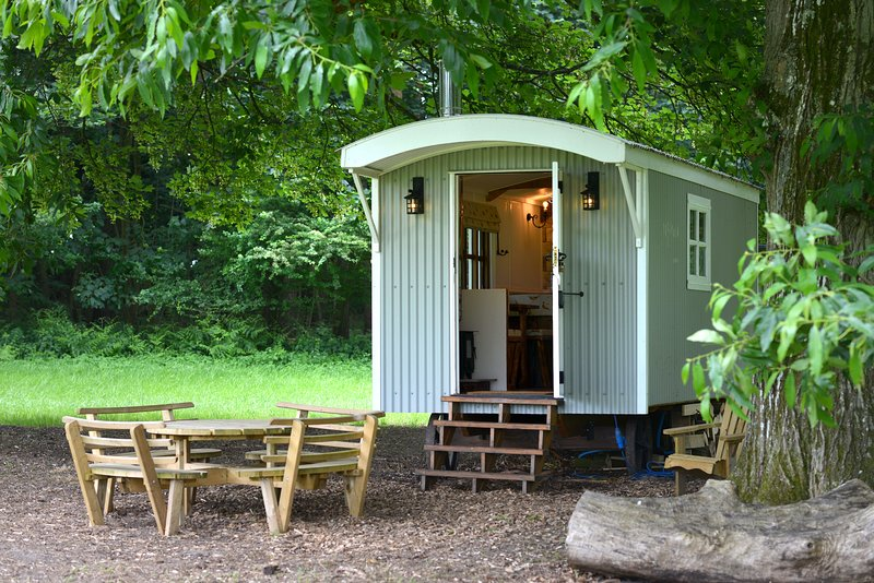 The Hut, traditional shepherds hut (sleeps 2), holiday rental in Fittleworth