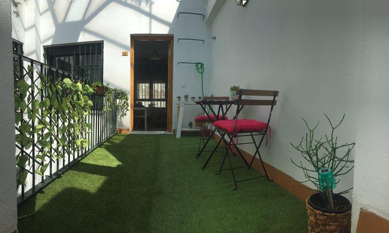 Terrasse ensoleillée