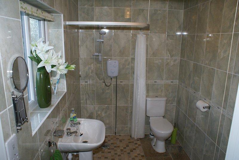 Wet room style bathroom