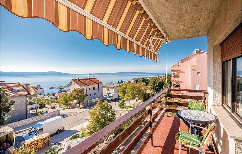 Amazing home in Novi Vinodolski with WiFi and 1 Bedrooms (CKN431), casa vacanza a Donji Zagon