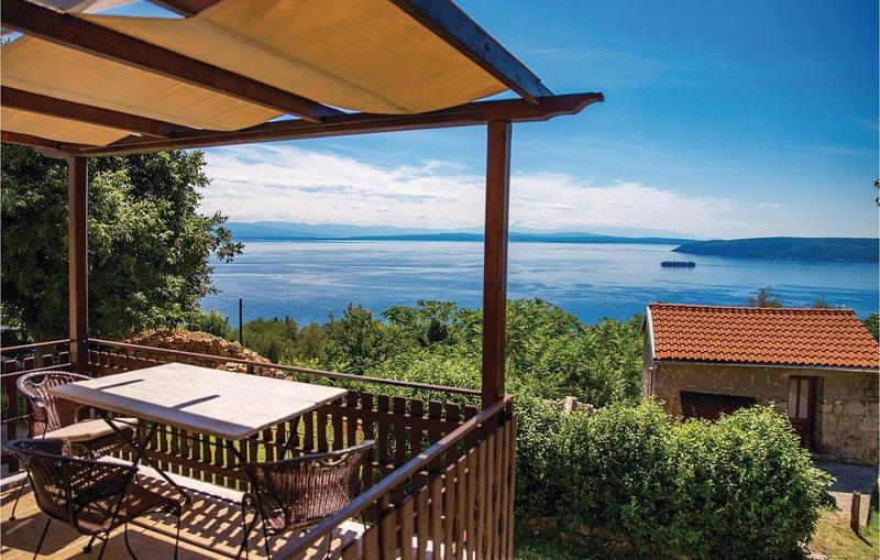 Stunning home in Moscenicka Draga with 1 Bedrooms and WiFi (CKO221), alquiler de vacaciones en Moscenicka Draga