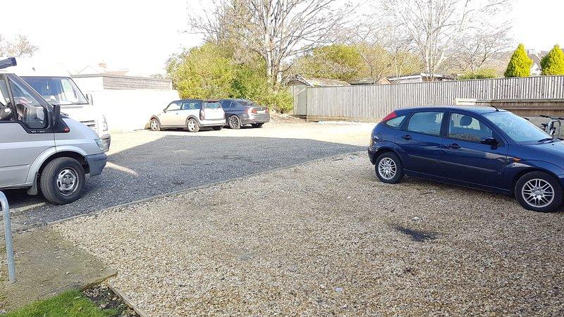 Car park at rear of property