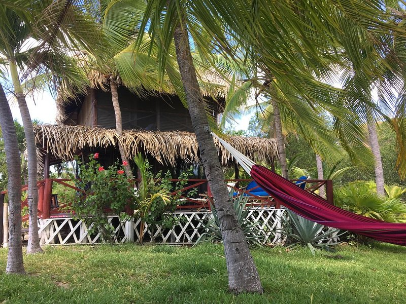 Sideview of Bungalow with Hammock