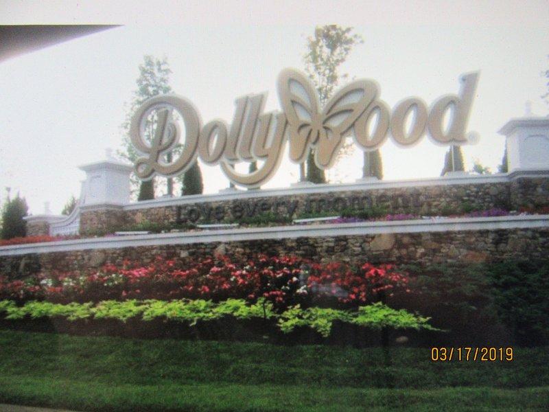 Dollywood 10 miles away.