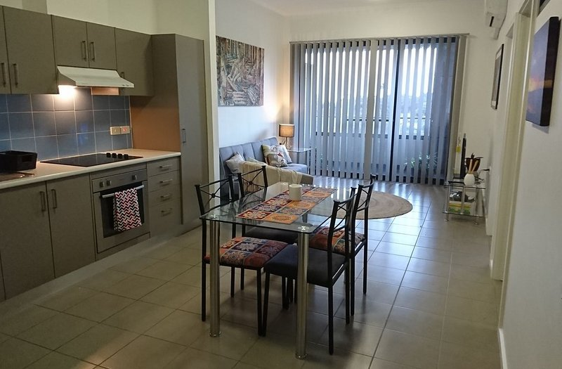 Large modern, open plan fully equipped kitchen-living area