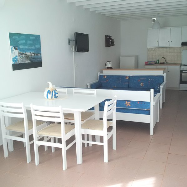 Estiades studios has a qiuet  and friendly environment..only 5 min.to the beach., holiday rental in Kalafatis