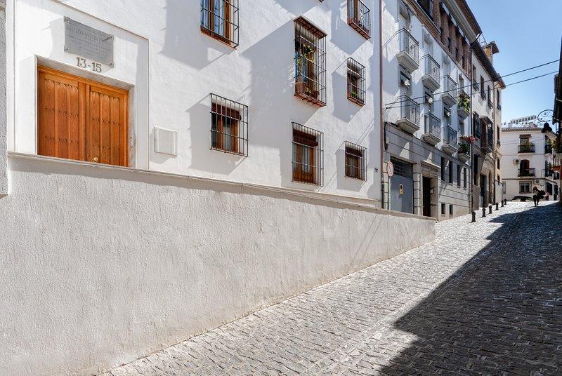 Main facade in quiet street