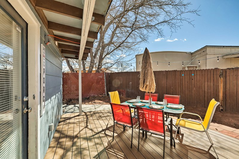 Book this 3-bedroom, 3-bathroom vacation rental house for your Page retreat.