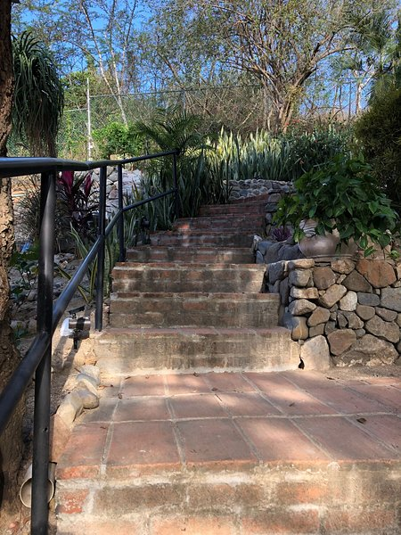 Outside stairs to guest house