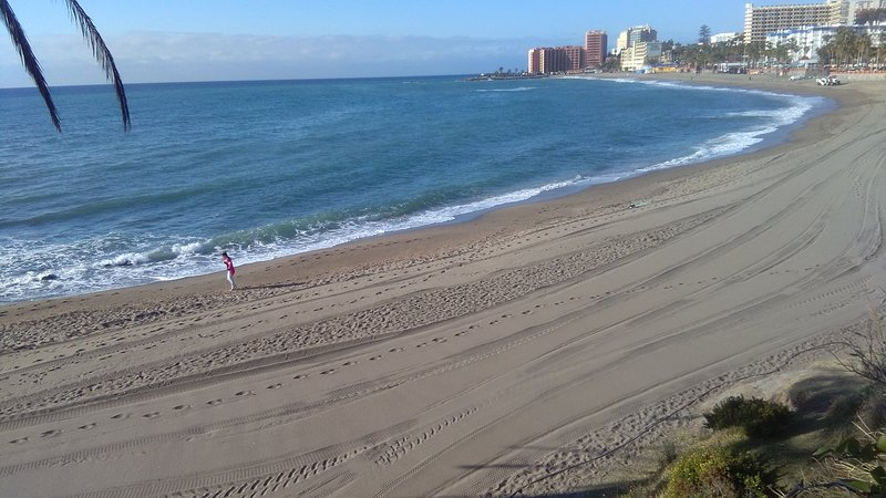 Beach in front of the apartments