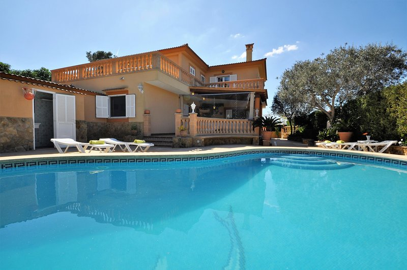 VILLA ISABEL with private pool in Tolleric Family Residential Area. Very popular, holiday rental in Puig de Ros