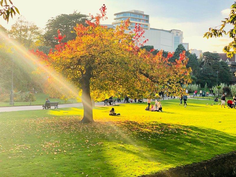 Jardins de Bournemouth en automne.