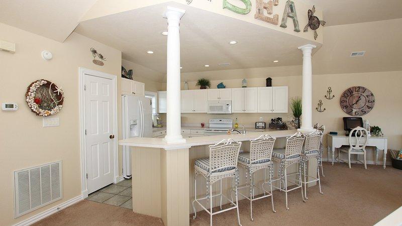 Meubles, chaise, intérieur, salle, île cuisine