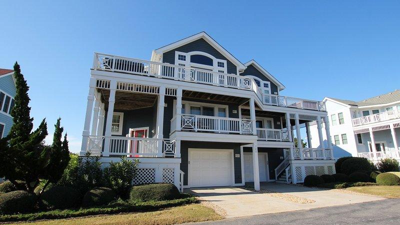Bâtiment, maison, porche, rampe, main courante