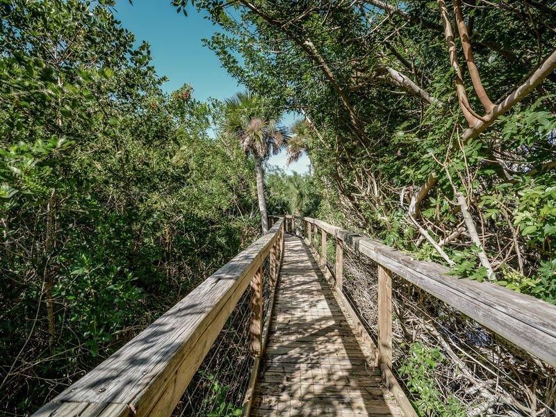 Disfrute de nuestro sendero natural que recorre la parte trasera de la propiedad.