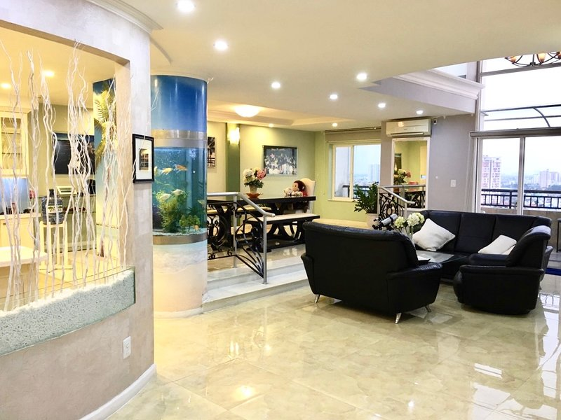 THE LIVING & DINING AREA.