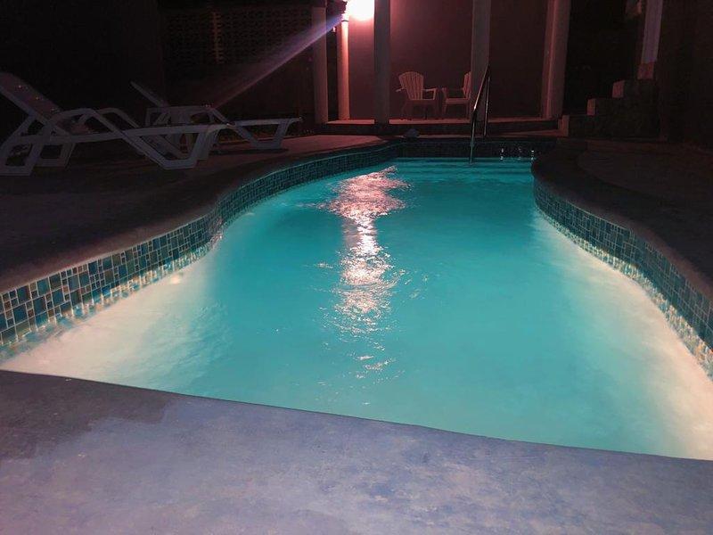 enjoy pool at night