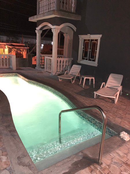 Chill by pool and enjoy warm Night me of Jamaica