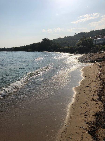 Beach is a qik 5 minutes walk across the street!