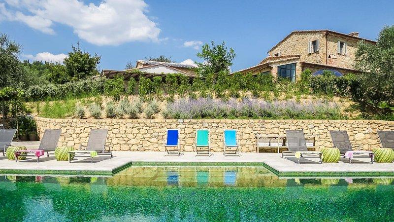 Luxury villa Menta, alquiler vacacional en Montefollonico